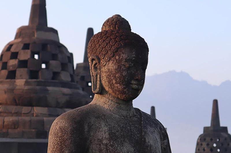 borobudur buddha upside down