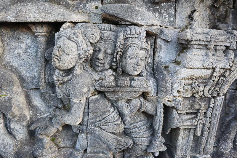 Fresque a Borobudur