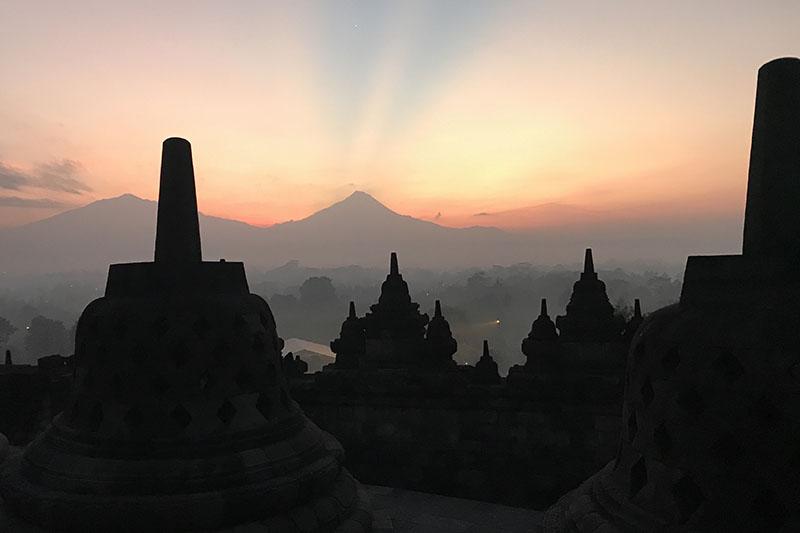 Sunrise temple Borobudur