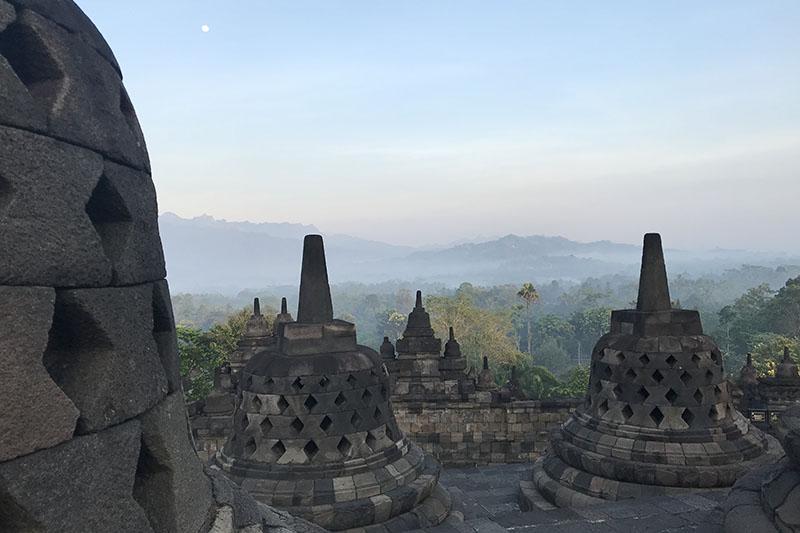 Vue temple de Borobudur