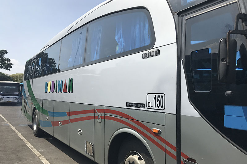 Budiman bus transport Java