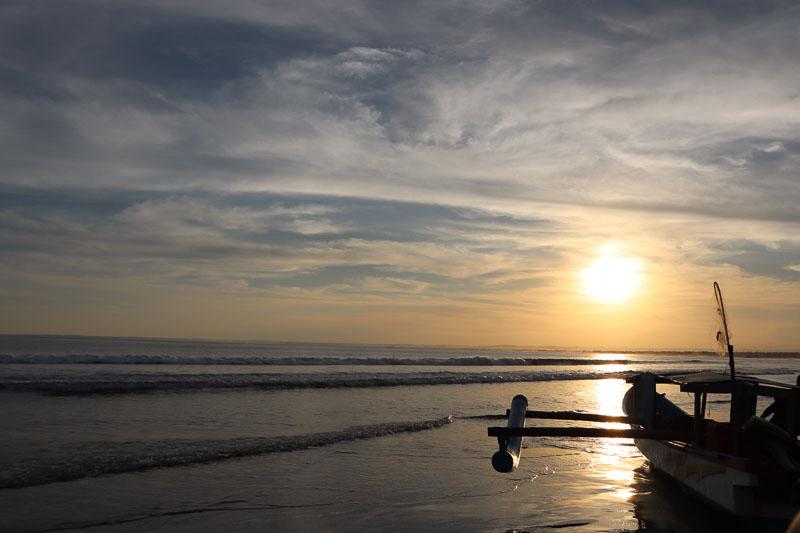 Coucher de soleil plage Pandangaran