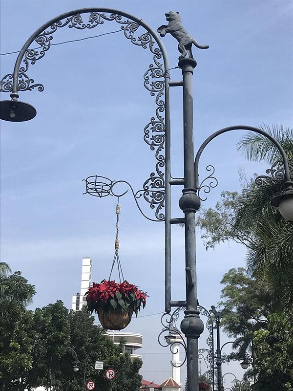 Lampadaire à Bandung