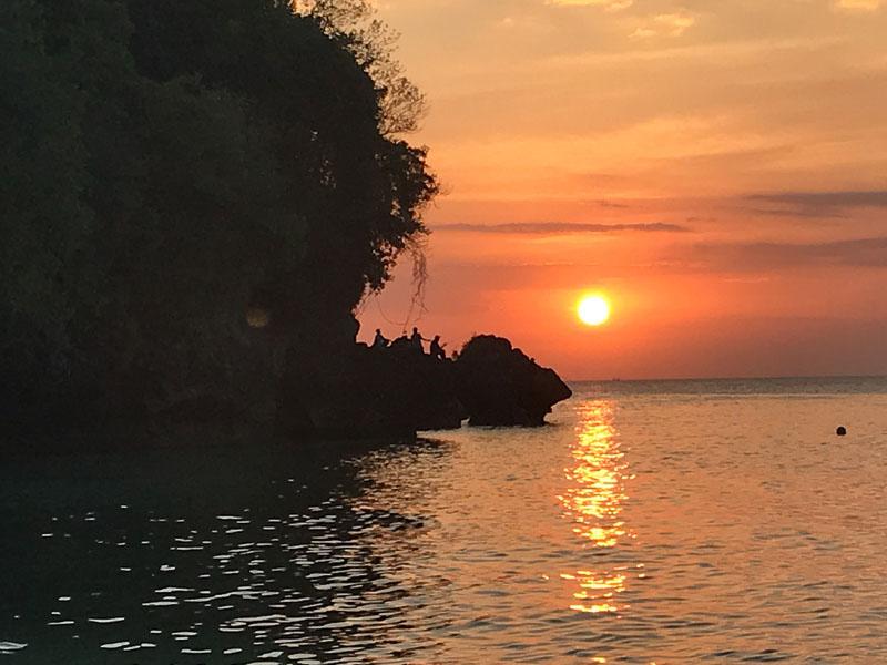 Padang Padang Beach sunset