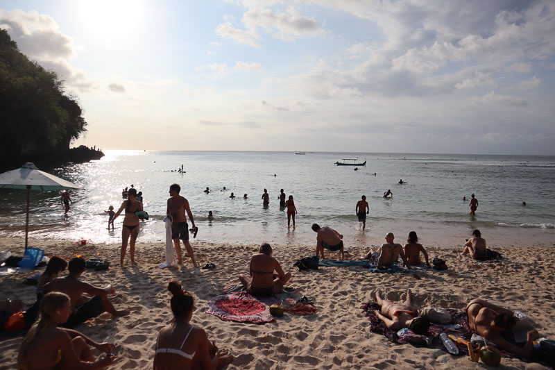Padang Padang Beach Touriste