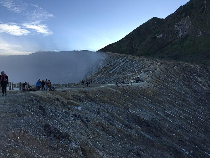 Vue du Cratère Ijen