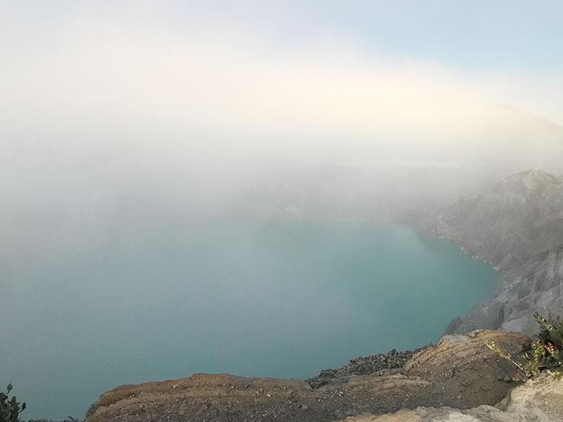 Le lac à Ijen