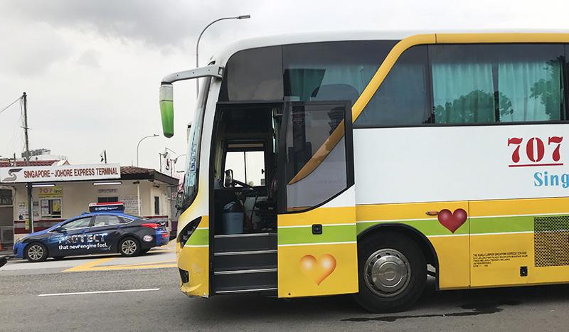 bus de Singapour à Malacca