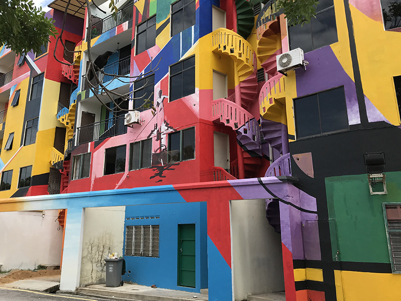 immeuble colore Malacca