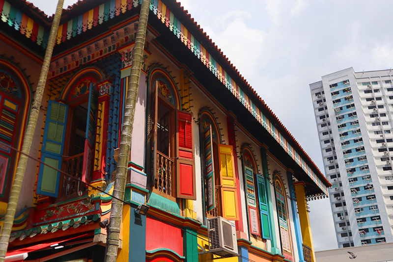 little india maison coloré singapour
