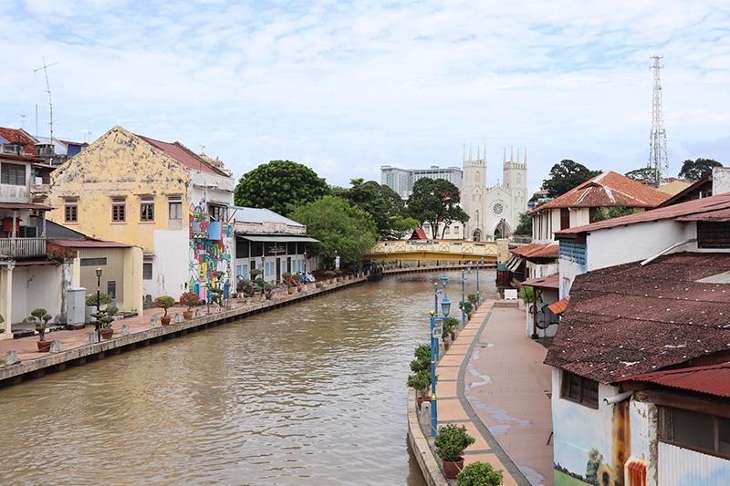 vue fleuve Malacca