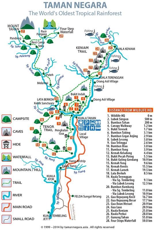 carte parc taman negara