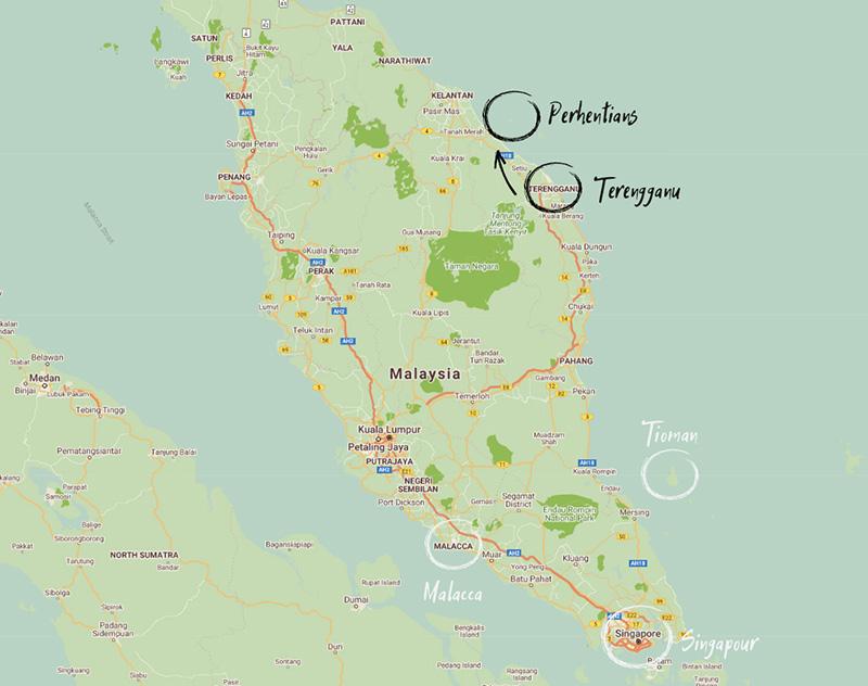 Itinéraire Kuala Terengganu îles Perhentians